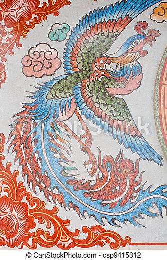 Chinese style art wall - csp9415312