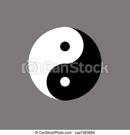 Chinese symbol of yin-yang.  How