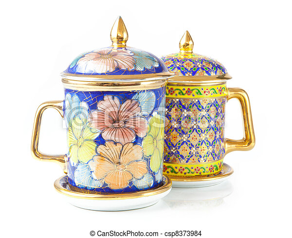 chinese tea cup - csp8373984