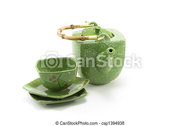 Chinese teapot and cup 2 - csp1394938