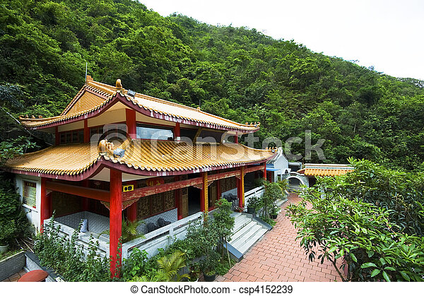 chinese temple in a mountain - csp4152239