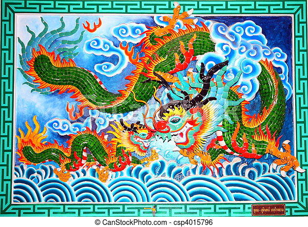 Chinese Temple Mural - csp4015796