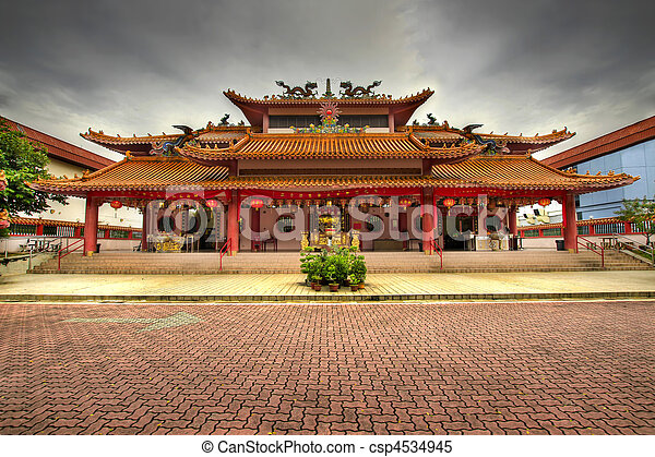 Chinese Temple Paved Square - csp4534945