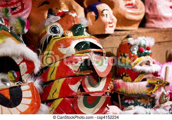 chinese toy, tiger mask - csp4152234