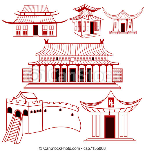 Chinese Traditional Buildings - csp7155808