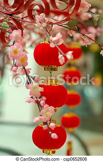 Chinese traditional red lantern 3 - csp0652606