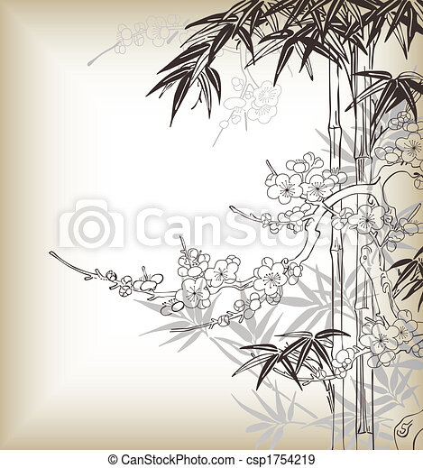 chinese tree background - csp1754219