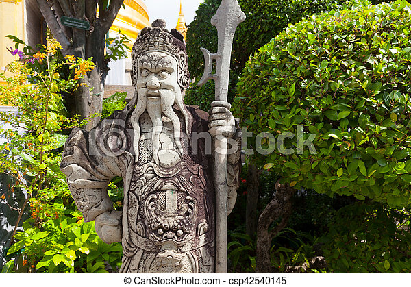 Chinese Warrior Statue In Grand Palace   Csp42540145