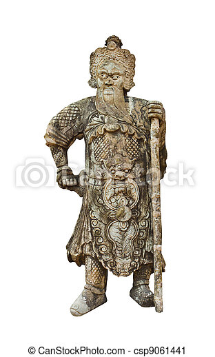 Chinese warrior statues - csp9061441