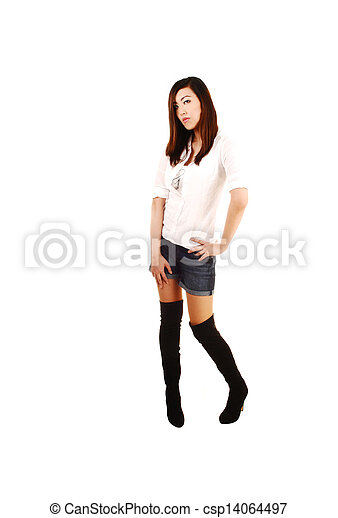 Tall chinese girl