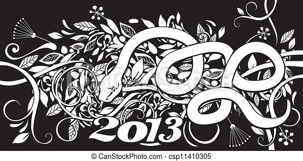 Chinese Year of the Snake - csp11410305