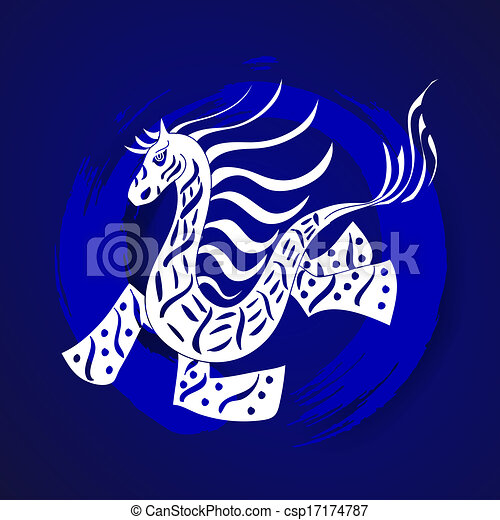 Chinese Zodiac New Year of the Horse - csp17174787