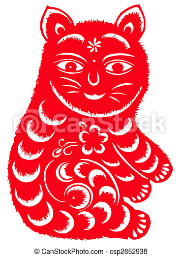 Chinese zodiac of cat - csp2852938