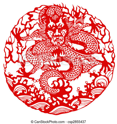 chinese paper cutting templates dragon - chinese zodiac of dragon chinese traditional paper cut