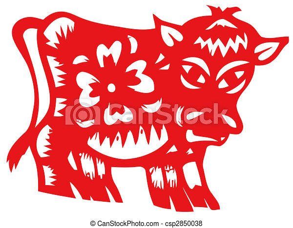 Chinese zodiac of ox - csp2850038