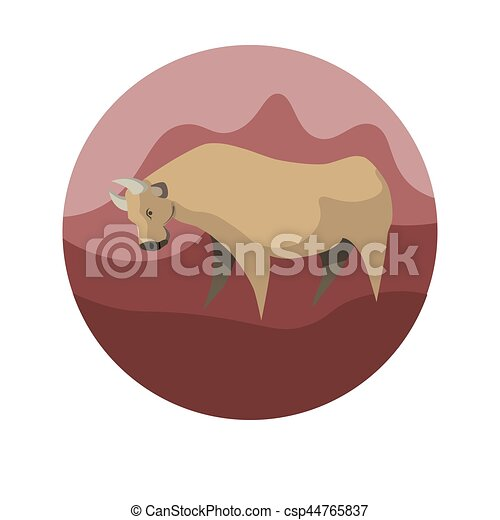 Chinese Zodiac Sign Ox Vector Horoscope Icon Or Symbol Chinese