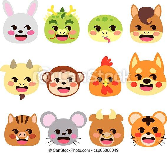 Chinese Zodiac Signs Emoji Animals