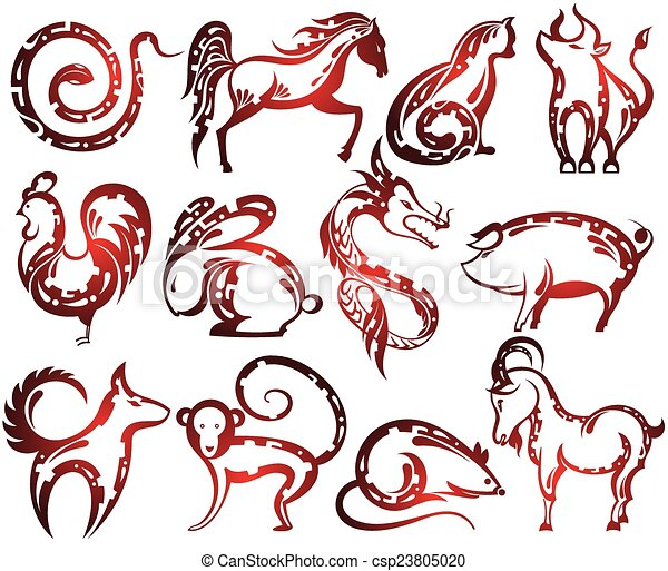 Chinese zodiac signs - csp23805020