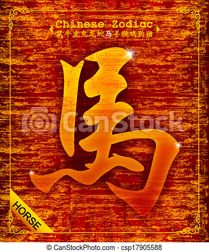 Chinese Zodiac - Year of the Horse  - csp17905588