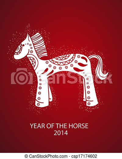 Chinese Zodiac Year of the Horse - csp17174602