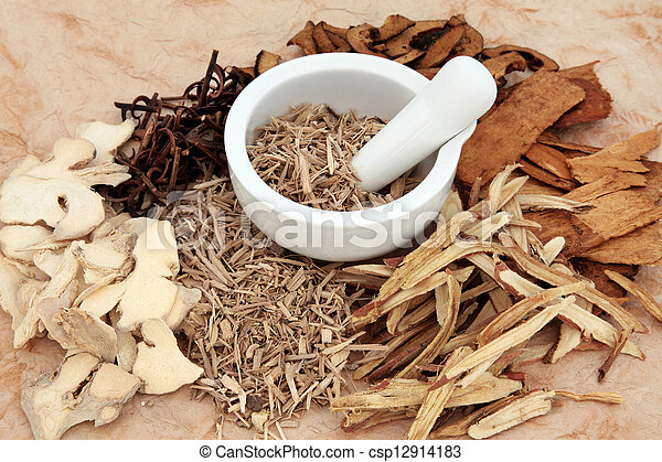 Chinesische Kräutermedizin - csp12914183