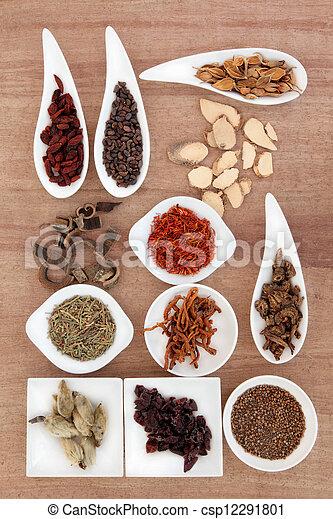 chinesische kräuter medizin - csp12291801