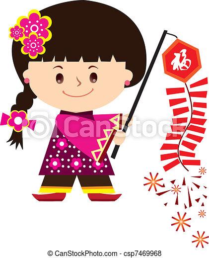 Chinesisches neues Jahrmädchen - csp7469968