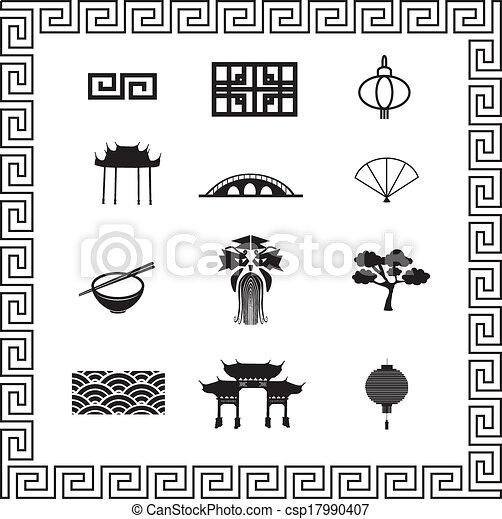 iconos chinos - csp17990407