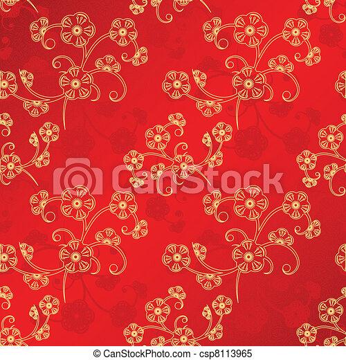 chinois, modèle, seamless, oriental, année, nouveau - csp8113965