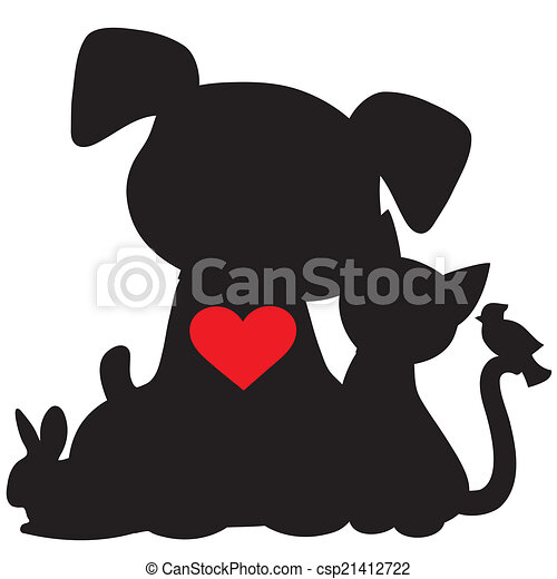 Funny Cats And Dogs Silhouettes