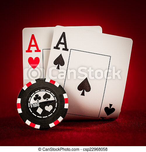 chips and two aces - csp22968058