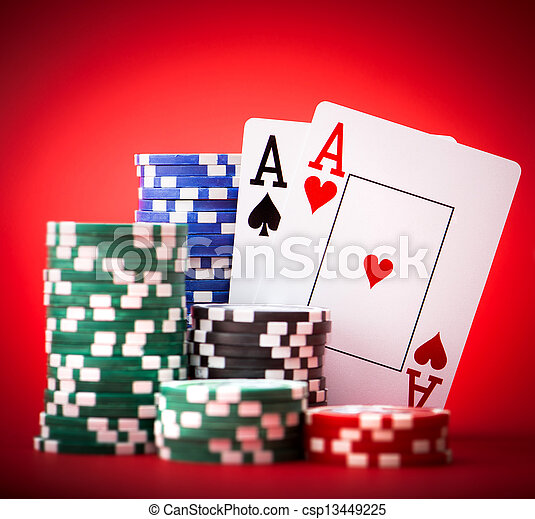 chips and two aces - csp13449225