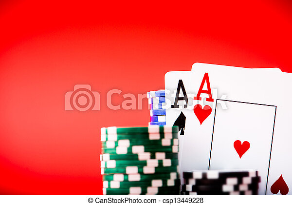 chips and two aces - csp13449228