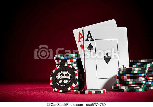 chips and two aces - csp5274759