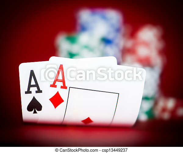 chips and two aces - csp13449237