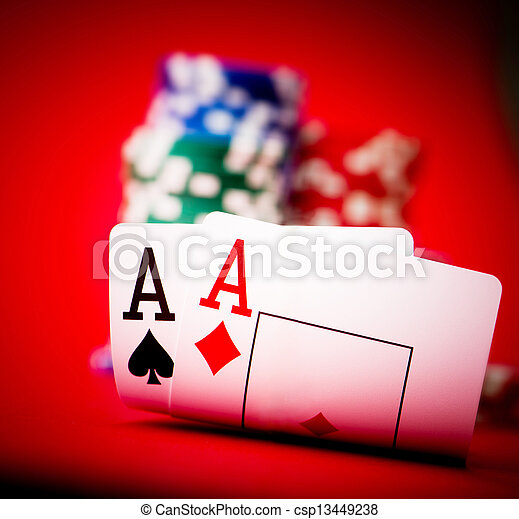 chips and two aces - csp13449238