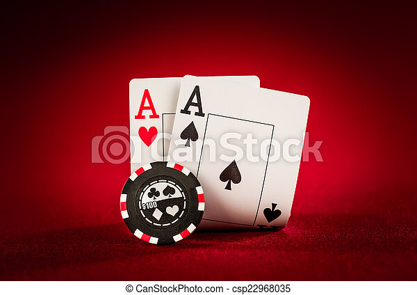 chips and two aces - csp22968035