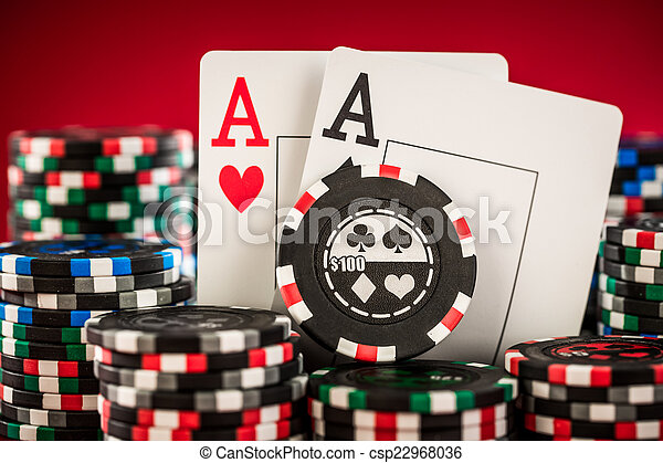 chips and two aces - csp22968036