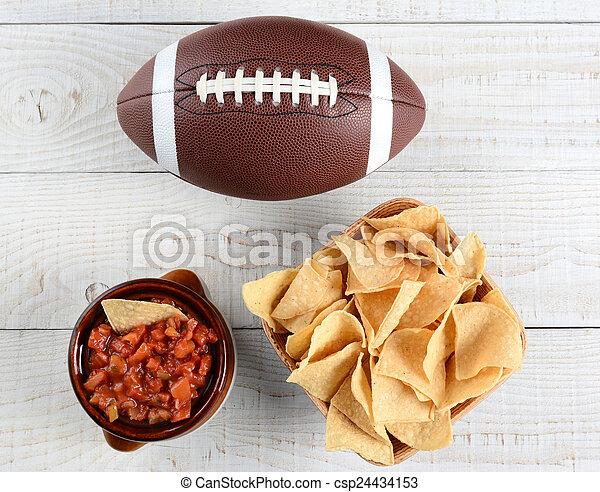 Chips, Salsa and Football - csp24434153