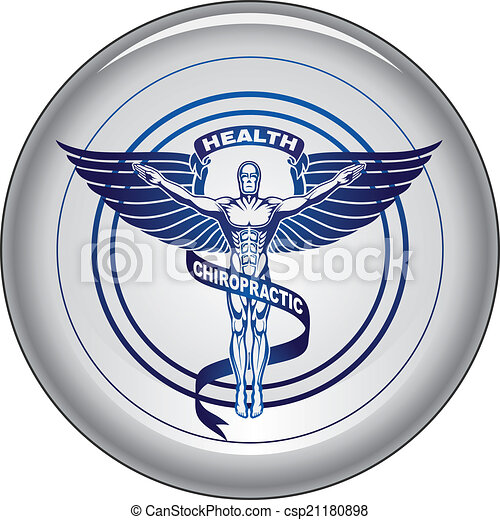 Chiropractor Symbol or Icon Button - csp21180898