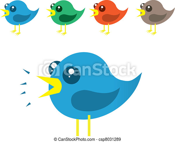 chirping birds various colored birds chirping