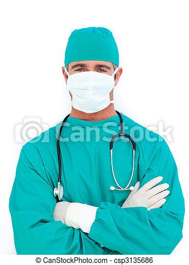 chirurg, ambitieus, verticaal - csp3135686