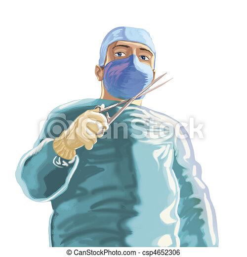 chirurg, groene - csp4652306
