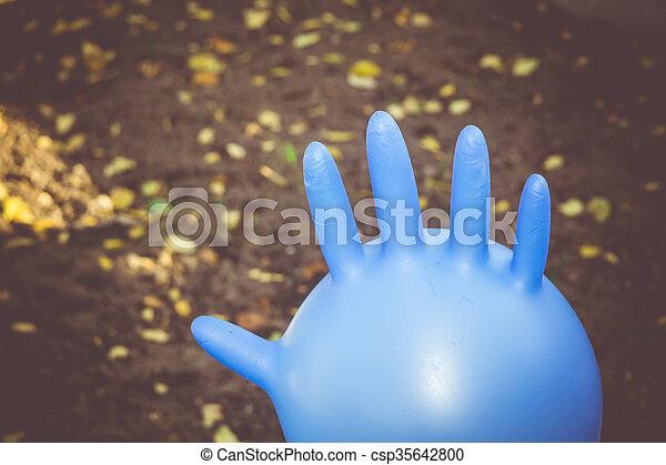 handschuh aufblasen