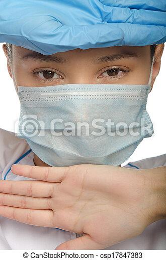 chirurgischer handschuh, doktor - csp17847383