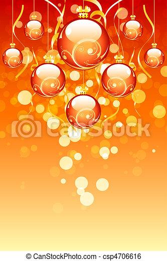 Bolas de Navidad con chispas - csp4706616