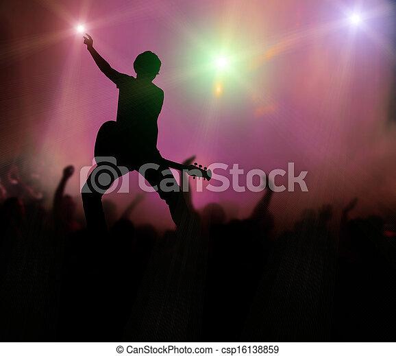 chitarrista, concerto, roccia - csp16138859