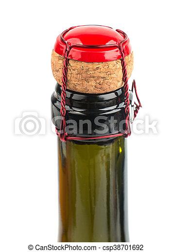 chiudere, champagne, su, sughero - csp38701692