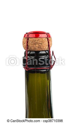 chiudere, champagne, su, sughero - csp38710398