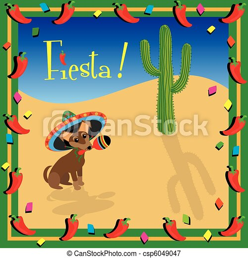 Chiwawa's Mexican Fiesta Party - csp6049047